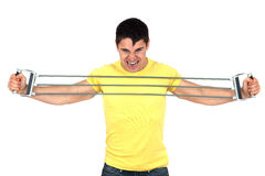 Man doing fitness Royalty Free Stock Image