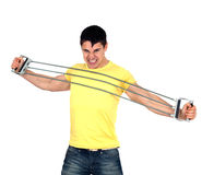 Man doing fitness Stock Image