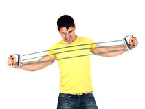 Man doing fitness Stock Photography