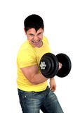 Man doing fitness Royalty Free Stock Photography