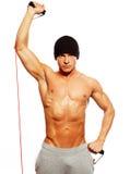 Man doing fitness exercise Stock Photo