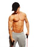 Man doing fitness exercise Stock Photography