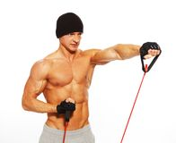 Man doing fitness exercise Royalty Free Stock Image