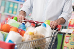 Free Man Doing Grocery Shopping Stock Image - 80943221