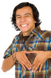 Man doing a heart shape Stock Images