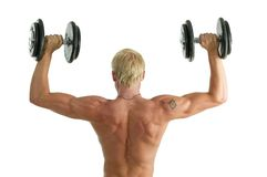 Man doing hes work out Stock Photography