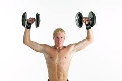 Man doing hes work out Royalty Free Stock Photography