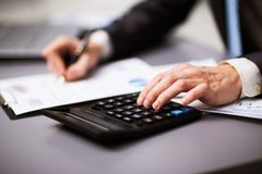 Man doing his accounting Royalty Free Stock Photo