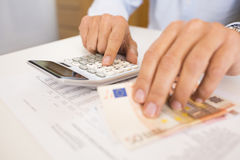 Man doing his accounting, financial adviser working royalty free stock photography