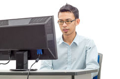 Man doing his works Royalty Free Stock Image