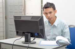 Man doing his works Royalty Free Stock Images