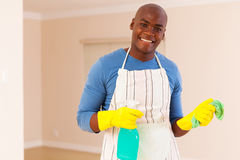 Man doing housework Stock Photos