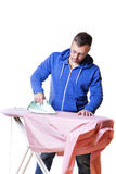 Man doing housework Royalty Free Stock Photography