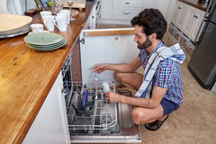 Man doing housework Royalty Free Stock Photos