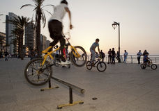 A man doing a jump on his bike, Lebanon Royalty Free Stock Photos