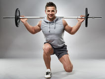 Man doing lunges, legs workout Royalty Free Stock Photography