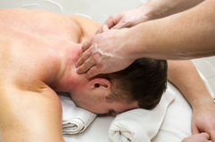 Man doing massage Royalty Free Stock Photography
