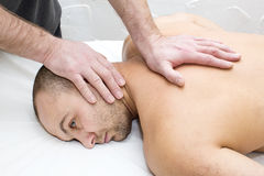 Man doing massage Royalty Free Stock Images