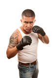 Man doing mixed martial arts Royalty Free Stock Photo