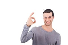 Man doing ok sign Royalty Free Stock Photography