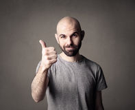 Man doing the ok sign Royalty Free Stock Image