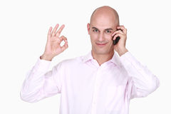 Man doing OK sign Stock Image