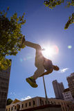 Man doing parkour in the city Royalty Free Stock Images