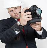 Man doing photography stock images