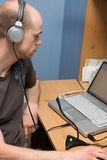 Man Doing Podcast Stock Photography