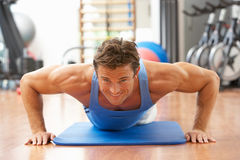 Man Doing Press Ups Royalty Free Stock Photo