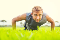 Man doing push up Royalty Free Stock Photo