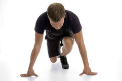 Man doing push ups Stock Photography