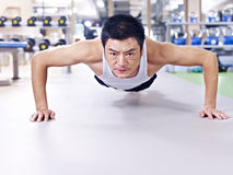 Man doing push-ups Royalty Free Stock Photo