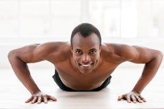 Man doing push-ups. Royalty Free Stock Photos