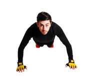Man doing pushes. Royalty Free Stock Images