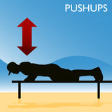 Man Doing Pushups Stock Image