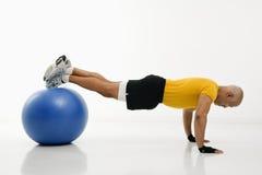 Man doing pushups. Royalty Free Stock Images