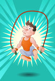 Man doing rope skipping Royalty Free Stock Image