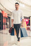 Man doing shopping Royalty Free Stock Photography