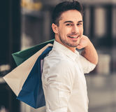 Man doing shopping Royalty Free Stock Photo