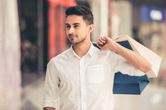 Man doing shopping Royalty Free Stock Images
