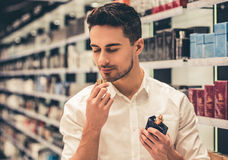 Man doing shopping Stock Images