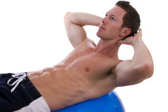 Man doing sit-ups Royalty Free Stock Image