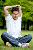 Man doing stretching Royalty Free Stock Photo