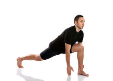 Man doing stretching and aerobics Royalty Free Stock Images