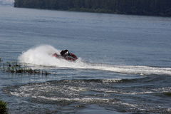 Man doing stunts jetski Stock Photo