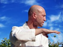 Man Doing Tai Chi Stock Images