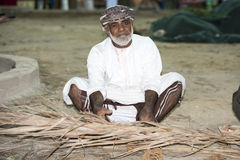 Man doing traditional craftsmanship Oman Royalty Free Stock Photography