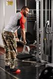 Man doing triceps workout Royalty Free Stock Image