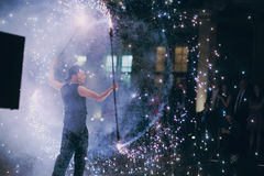 Fireshow in awedding Royalty Free Stock Image